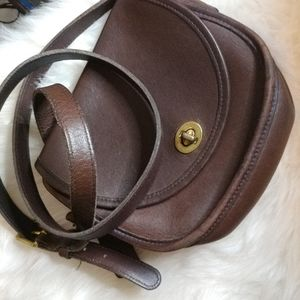 Coach Brown saddle bag style purse